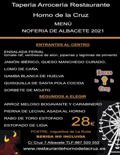 menu feria 2021